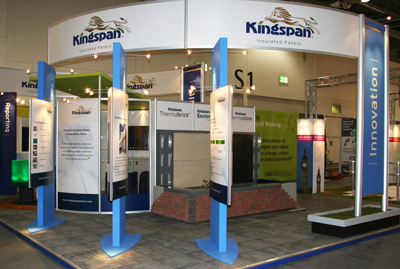 Modular Exhibition Stands Out : Kingspan system modular stands exhibition stand